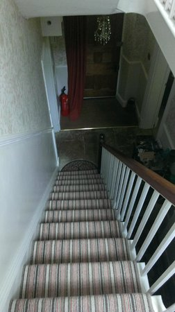 Murcott Mill Farmhouse: Stairs from front door to 1st floor