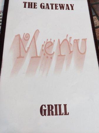 Gateway Restaurant: Cover of menu