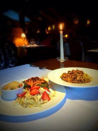 Restaurant L'Impossible : crepes and tagliatelli w/ chantrellles