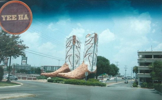 Giant Texan Cowboy Boots! Picture of Largest Boots in