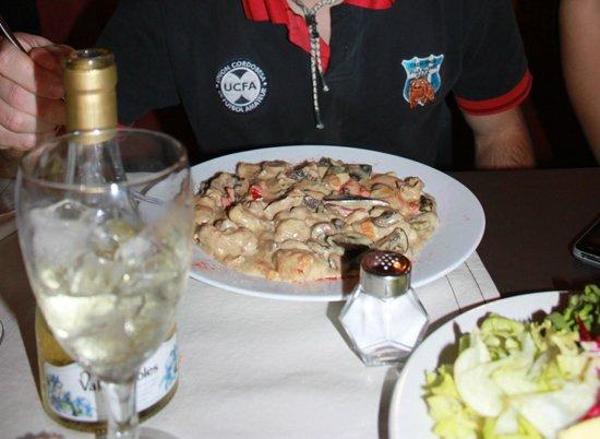 La vereda: Pollo y champignones a la crema
