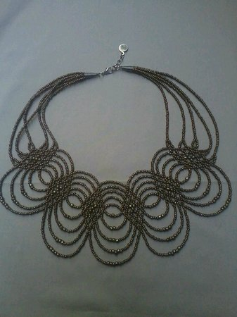 Kokula Art and Craft Shop: Handmade beaded necklace inspired by Moslavački kraluš - traditional Croatian beaded necklace fr