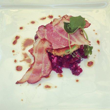 la Table 2 Julien : Salade betterave chèvre chaud
