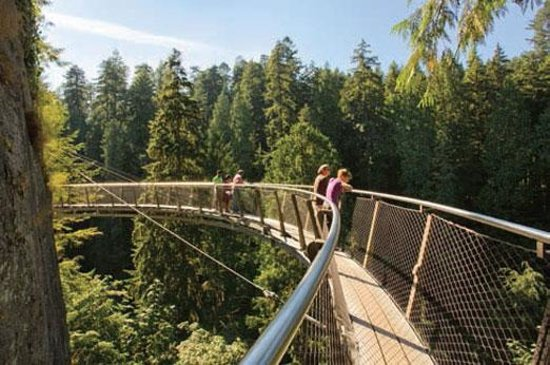 Cliffwalk at the Capilano Suspension Bridge Park in North Vancouver