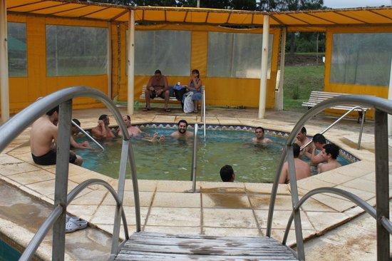 Termas de La Paz: Piscina cubierta con hidro