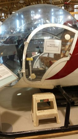 The Hangar Flight Museum: Another non - interactive aircraft to look but not touch... Although see the step by the door? W