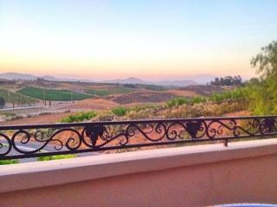 Inn at Churon Winery: View off patio of Chardonnay Suite