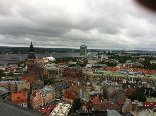 View of Riga from St Peter's Church Tower : Utsikt ut over Riga