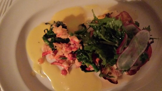 Peninsula Grill : Halibut with Lobster/Kale