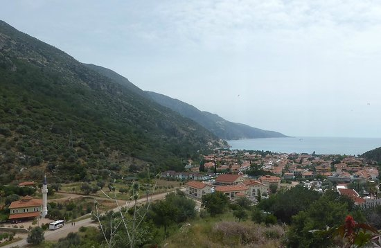 Marcan Resort Hotel: view of hotel and Olu Deniz from hill just at back of hotel