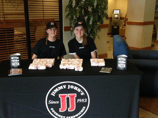 Wingate by Wyndham York: Thank you Jimmy Johns for visitng the Wingate Hotel