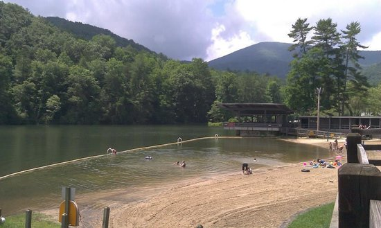 Vogel State Park: the beach on the lake and a path to hike the perimeter!