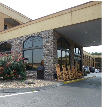 Island Drive Lodge: Hotel Entrancway