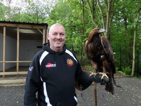 Loch Lomond Bird of Prey Centre: Me and Orla.