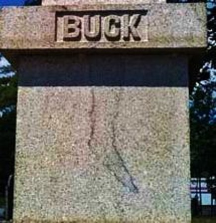 Buck Cemetery: Close-up of the infamous stocking