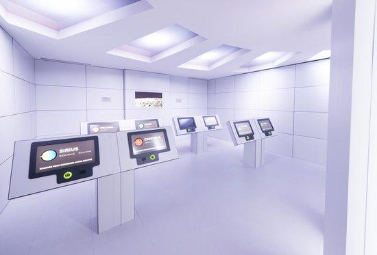 Cosmodome: Salles interactives
