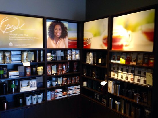 Starbucks : View of shelves