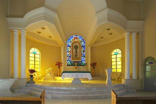Ochre-Colored Church