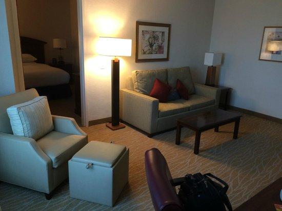 Doubletree by Hilton Sunrise - Sawgrass Mills: 2 room suite couch and chair