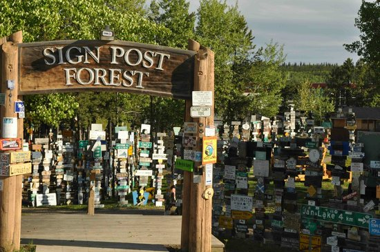 Sign Post Forest : Watson Lake Signpost Forest