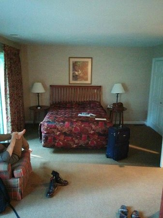 Villas at Tree Tops and Fairway: Downstairs suite- Bed half- other half had pullout-bed loveseat and coffee table