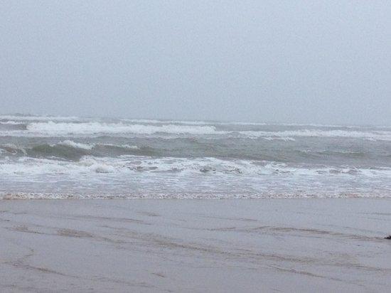 Dale Farm: Bad weather but beautiful sea at Hunmanby Gap