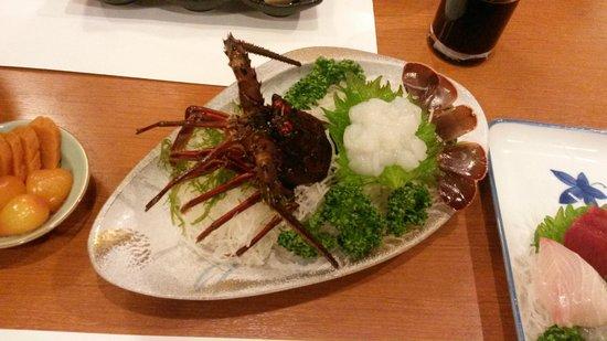 Sengokuhara Shinanoki Ichinoyu: lobster sashimi