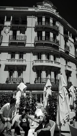 Hotel Hermitage Monte-Carlo : Outside from the terrace