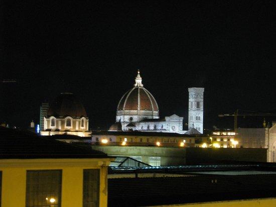 Delle Nazioni Hotel : Nighttime view from balcony