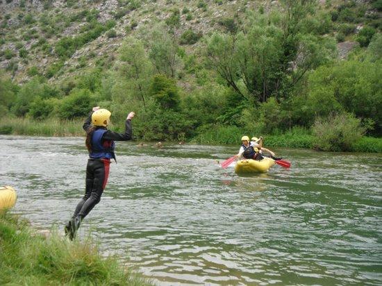Adventure Dalmatia: Jumping in