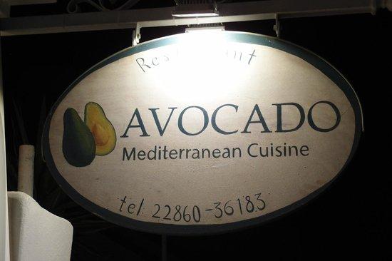 Avocado Restaurant: l enseigne