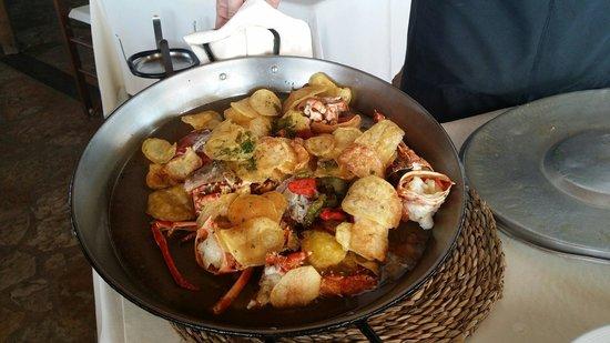 Es Moli De Sal : Langosta frita