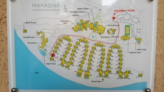 Maradiva Villas Resort and Spa: Property Layout