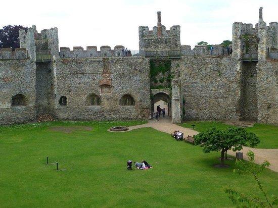 Framlingham Castle: interior entrance