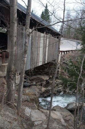 Gold Brook Covered Bridge (Emily's Covered Bridge): A side view from the overlook