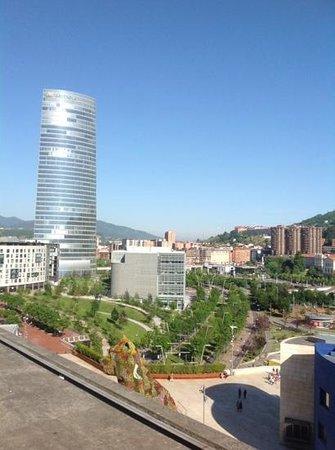 Gran Hotel Domine Bilbao: view from breakfast