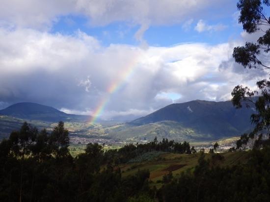 cabin Balcon del Lago : Rainbow in the mountains