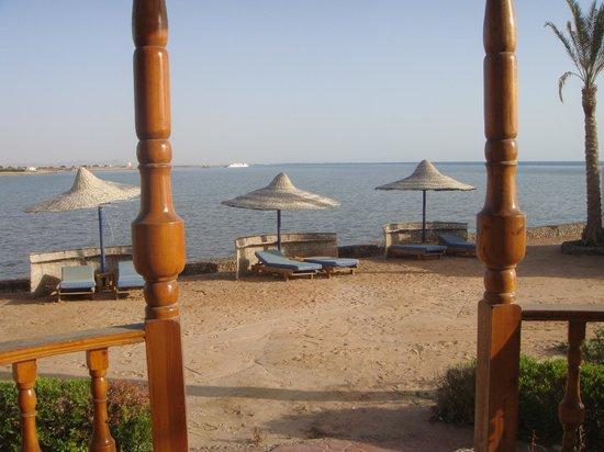 Sweet Home Egypt: Aussblick vom Zimmen