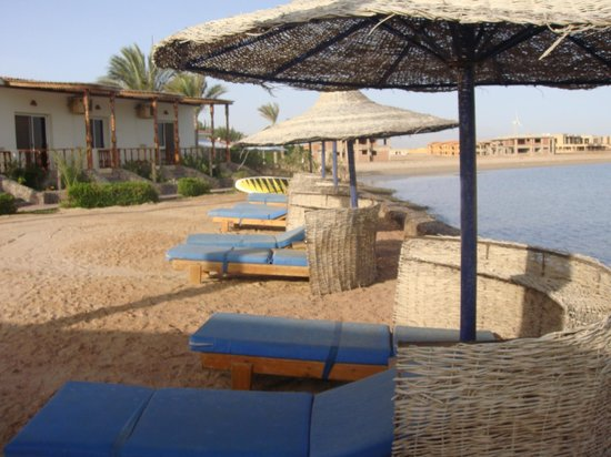 Sweet Home Egypt: Ruheberreich vor den Bungalow