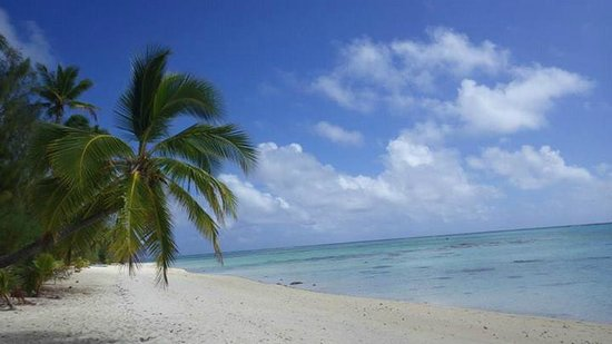 Tamanu Beach: The beach in front