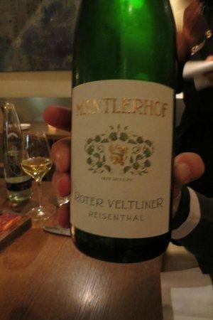 Shane's Restaurant: Weinbegleitung