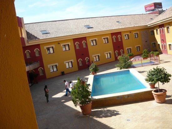 Hotel Torreón: una vista de arriba de nuestra habitacion