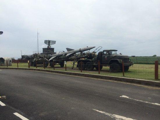 Scotland's Secret Bunker: Some of the hardware outside