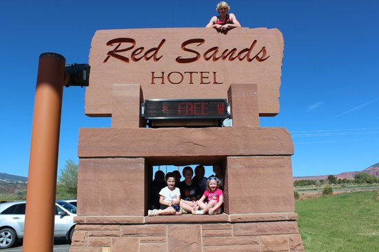 My kids at Red Sands Hotel