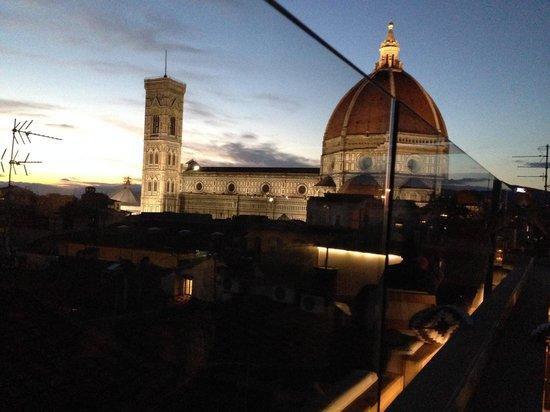 Grand Hotel Cavour : Utsikten från Takterassen på Hotel Cavour i Florens