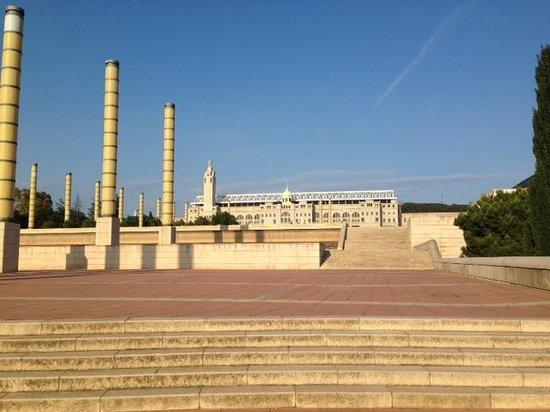 Parc de Montjuic: View of the Olympic stadium
