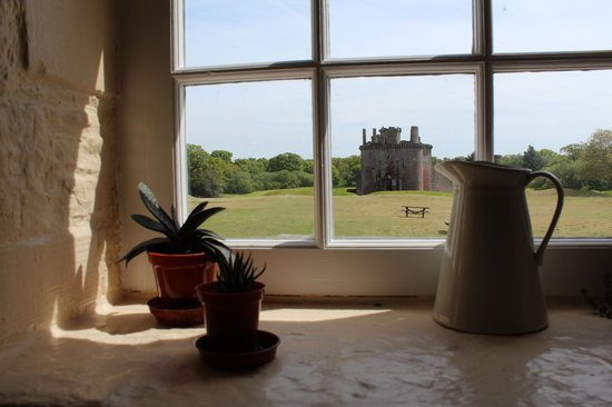 Caerlaverock Castle: View from the cafe