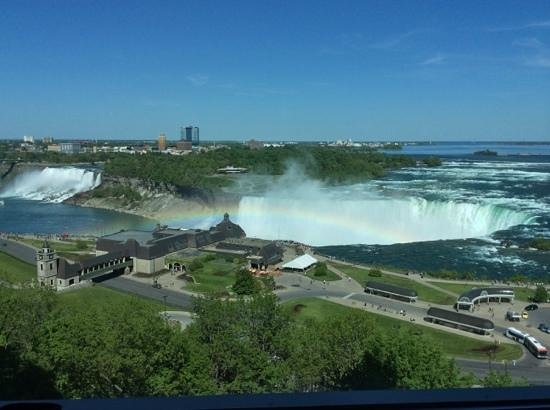 Niagara Falls Marriott Fallsview Hotel & Spa : view from my room with the added bonus of a rainbow