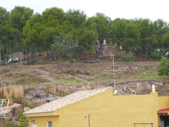 Hotel Ronda I: vista de mi habitacion .
