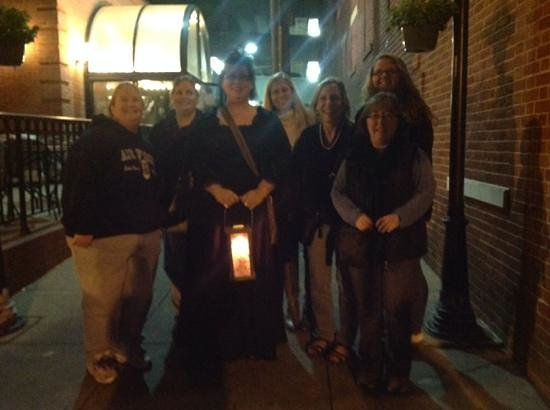 Ghost Tours of Historic Frederick: Our ghost tour group with guide Kristina